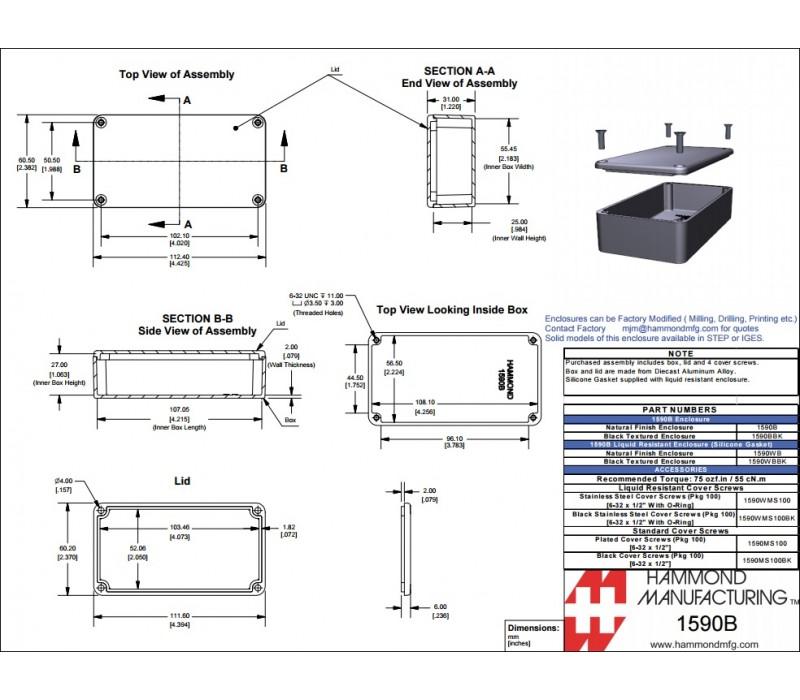 diy box mod parts - hammond 1590b