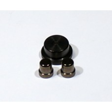 Alpinetech Stainless Steel Buttons/Actuators (black)