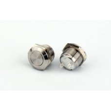 ABM 12mm Low Profile Fire Button - Stainless